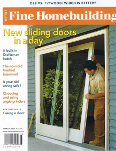 Fine Homebuilding Front Cover