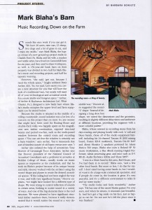 Mix Magazine Article